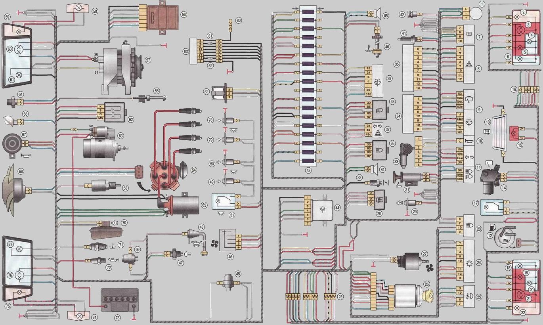 таврия 1102 схема электрооборудования
